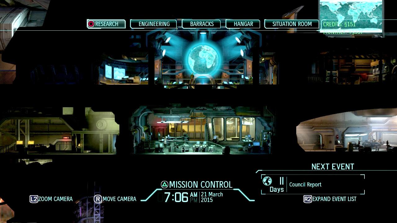 XCOMでの基地全体像