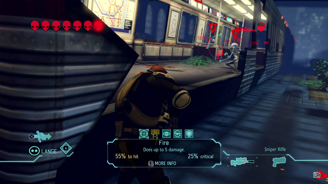 XCOM: Enemy Unknownでのユニットからの視界